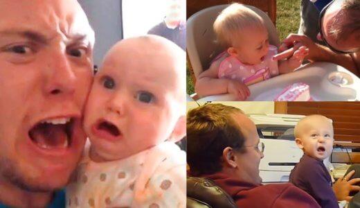 【ほっこり】パパが赤ちゃんを独特な方法であやす映像40連発www