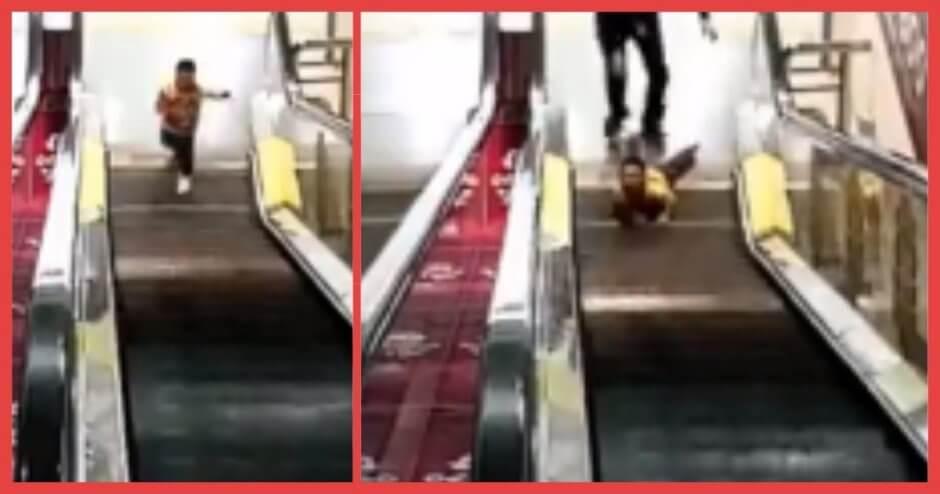 【閲覧注意】エスカレーターで転倒した男児の指が吸い込まれる瞬間……