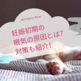 妊娠初期の眠気の原因とは?対策も紹介!